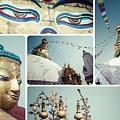 Collage Of Kathmandu  by Mariusz Prusaczyk