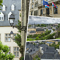 Collage Of Luxembourg Images by Mariusz Prusaczyk
