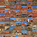 Collage Roof And Windows - The City S Eyes by Daliana Pacuraru