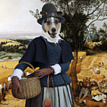 Collie Smooth - Smooth Collie Art Canvas Print - The Harvesters by Sandra Sij