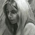 Portrait Of Woman In Charcoal by Jordan Henderson