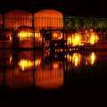 Colonial Beach Docks After Dark by Clayton Bruster