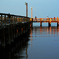 Colonial Beach Town Pier by Clayton Bruster