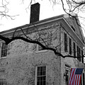Colonial House With Flag by Florence Ponzo