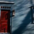 Colonial Red Door Newport Rhode Island by Jason O Watson