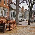 Colonial Street Scene by E Robert Dee