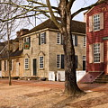 Colonial Street Scene by Sally Weigand