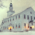 Colonial Winter Scene - Washington, Nh by Joann Vitali