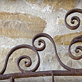 Colonial Wrought Iron Gate Detail by John Stephens