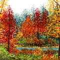 Color Burst Forest by Louise Miller