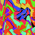 Color Drawing Abstract #3 by Tom Janca