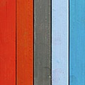 Color Range - Detail Of The Colored Pastels by Michal Boubin