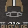 Colorado Buffalos Vintage Football Art by Joe Hamilton