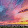 Colorado Front Range Crazy Sunset Timed Stack by James BO Insogna