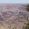 Colorado River Flowing Though Grand Canyon - 6 by Christy Pooschke
