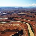 Colorado River Winds Through Canyonlands   by Jean Clark