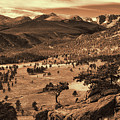 Colorado Rockies Sepia Toned by Greg Norrell