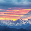 Colorado Rocky Mountain Sunset Waves Of Light Part 1 by James BO Insogna