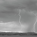 Colorado Rocky Mountains Foothills Lightning Strikes 2 Bw by James BO Insogna