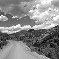 Colorado Shelf Road 1 B-w by Anita Burgermeister