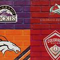 Colorado Sports Teams On Brick by Dan Sproul