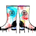 Colored Chanel Boots by Daniel Janda