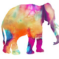 Colored Elephant Painting by Justyna JBJart