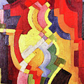 Colored Forms IIi By August Macke by August Macke