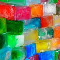 Colored Ice Bricks by Juergen Weiss