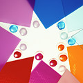 Colored Plexiglas Shapes by Stefania Levi