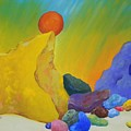 Colored Rocks In Sand by Emily Michaud