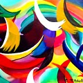Colorful Abstract Art by Carole Mitchell