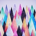 Colorful Abstract Geometric Triangle Peak Woods  by Philipp Rietz