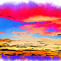 Colorful Abstract Sunset by Kirt Tisdale