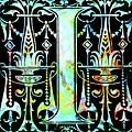 Colorful Ancient Alphabet Letter Black I by Isabella Howard