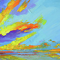 Colorful Beach Sunset Oil Painting  by Patricia Awapara