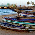 Colorful Boats by Clifton Facey