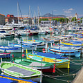 Colorful Boats Docked In Nice Marina, France by Liesl Walsh