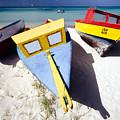 Colorful Boats On  Eagle Beach  Aruba by George Oze