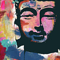 Colorful Buddha 2- Art By Linda Woods by Linda Woods