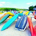 Colorful Canoes by Ed Weidman