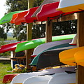 Colorful Canoes by Nadine Rippelmeyer
