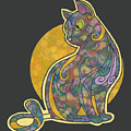 Colorful Cat Art by Alondra Hanley