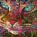 Flower Cat 1 by Peggy Collins