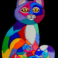 Colorful Cats And Kittens by Nick Gustafson