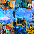 Colorful City Collage by Phil Perkins