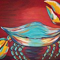 Colorful Crab by Angela Miles Varnado