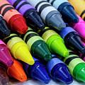 Colorful Crayons by Teri Virbickis