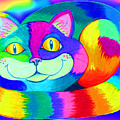 Colorful Crazy Cat by Nick Gustafson