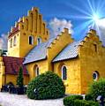 Colorful Danish Church by Anthony Dezenzio